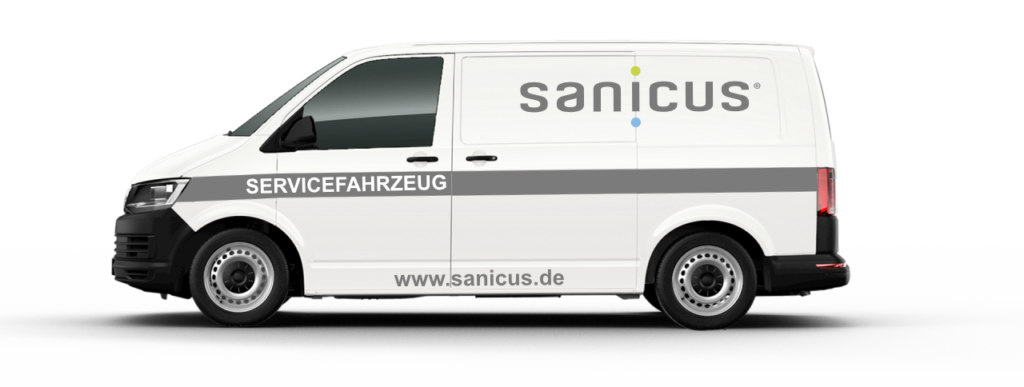 Sanicus Service Fahrzeug
